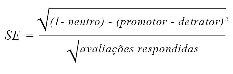 Formula para Erro Padrão ou Standard Error (SE)